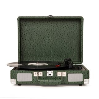 Crosley Cruiser Deluxe Green Ostrich Turntable