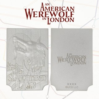 American Werewolf In London: Pub Sign Limited Edition Silver Plated Replica Collectible