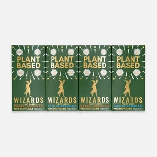 Wizards Magic Chocolate: Plant Based Gift Pack: Orange & Vanilla (Pack of 4)
