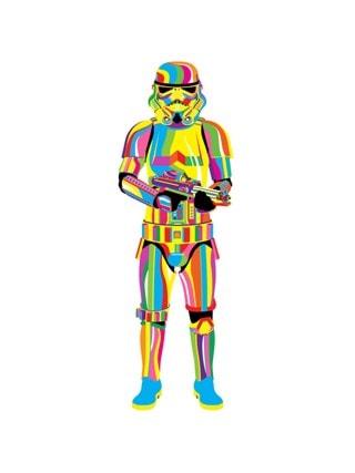 Trippy Stormtrooper Olly Gibbs Star Wars Art Print