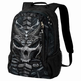 Skull Armour Backpack with Laptop Pocket