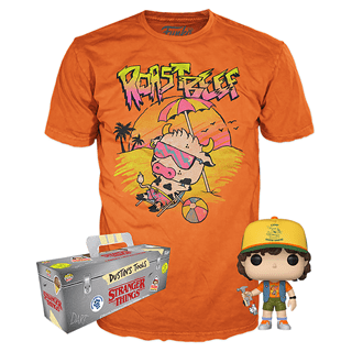 Stranger Things: Dustin with Roast Beef (828) Pop! Tee (hmv Exclusive)
