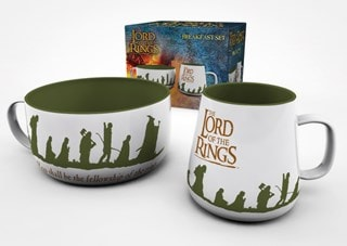 The Lord Of The Rings Breakfast Set