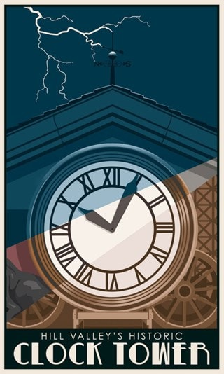 Hill Valley Steve Thomas Back to the Future Art Print