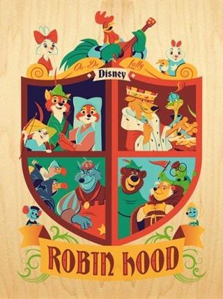 Robin Hood: Crest Dave Perillo Limited Edition Wood Veneer Paper Print