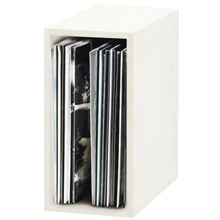 Glorious Record Box 55 White Vinyl Storage