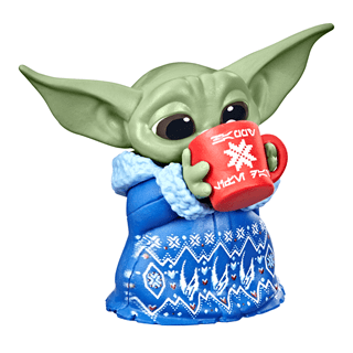 Grogu Baby Yoda Holiday Cocoa Mandalorian Figurine