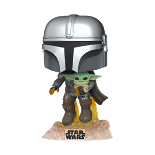 The Mandalorian Flying with The Child (402) Star Wars Pop Vinyl
