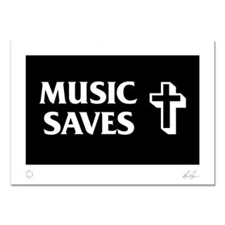 The Verve Art Print: Music Saves
