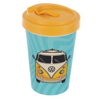 Volkswagen VW T1 Camper Bus Reusable Screw Top Bamboo Composite: Surf Adventure Travel Mug