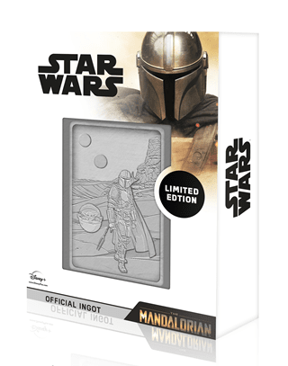 Mandalorian And Baby Yoda: Star Wars Ingot Collectible