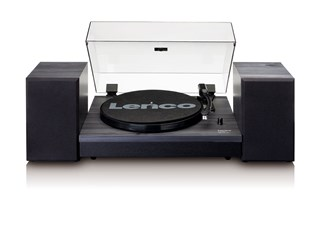 Lenco LS-300 Black Turntable and Speakers