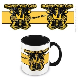 Cobra Kai: Sweep The Leg Black Coloured Inner Mug