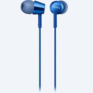 Sony Mdrex155Ap Blue Earphones W/Mic