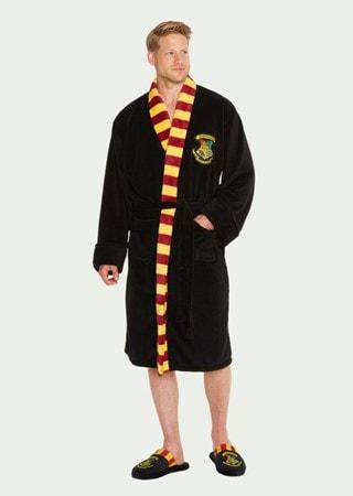 Harry Potter: Hogwarts Mens Fleece Robe With Scarf
