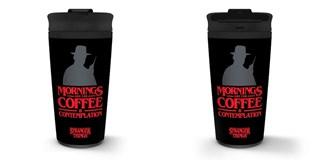 Metal Travel Mug: Stranger Things: Coffee & Contemplation