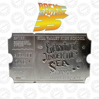 Back To The Future: Silver Plated Ticket Metal Replica (online only)