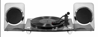 Victrola Acrylic Charcoal Turntable With Bluetooth Speakers