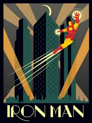 Iron Man: Marvel Deco Canvas Print