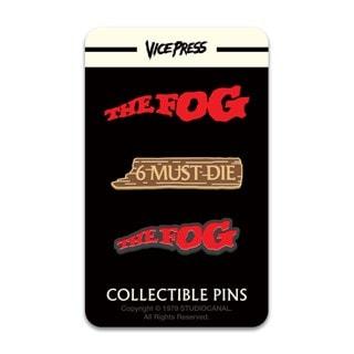 The Fog: Logo & 6 Must Die Pin Badge Set