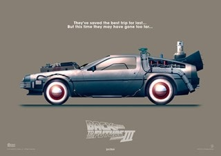 Back To The Future Part III: Delorean Art Print