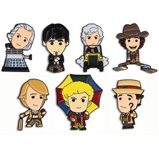 Doctor Who: Classic Doctors (#2) Pin Badge Box Set