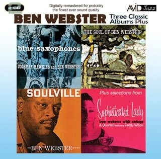Three Classic Albums Plus: Blue Saxophones/Soul of Ben Webster/Soulville/Sophisticated Lady