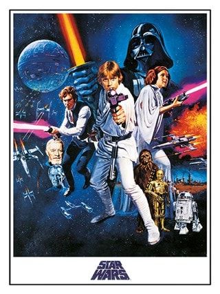 A New Hope: Episode IV: Star Wars Canvas Print