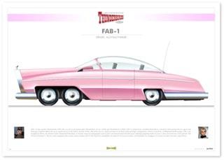 Thunderbirds: FAB1 Infographic Art Print