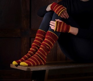 Gryffindor Mittens & Slouch Socks: Harry Potter Knit Kit
