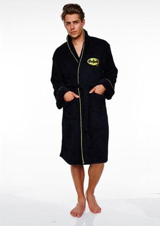 Batman: Black Original Logo Fleece Robe