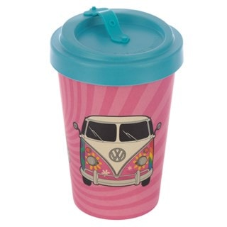 Volkswagen VW T1 Camper Bus Reusable Screw Top Bamboo Composite Summer Love Travel Mug