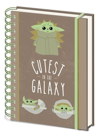 Star Wars: The Mandalorian: Cutest In The Galaxy: A5 Wiro Notebook