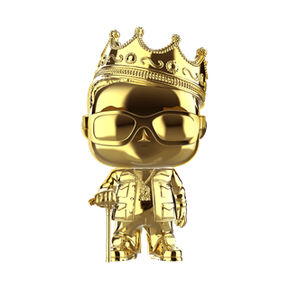 Notorious B.I.G. with Crown Gold Chrome (82) Special Edition Biggie (hmv Exclusive) Pop Vinyl