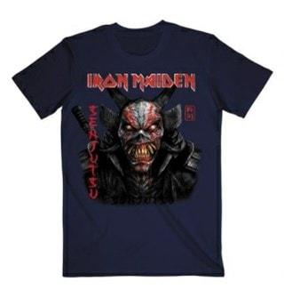 Iron Maiden: Senjutsu Back Cover Vertical Logo: (hmv Exclusive) Navy Tee