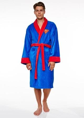 Superman: Blue Original Logo Fleece Robe