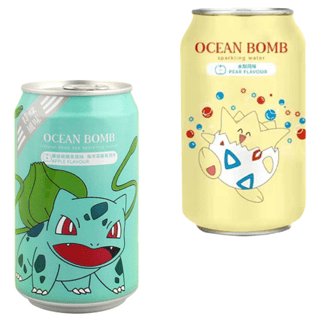 Pokemon Ocean Bomb: Apple & Pear Soft Drink Pack of 4