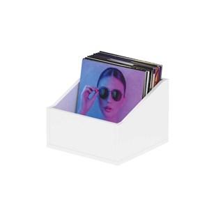 Glorious Record Box Advanced 110 White Vinyl Storage