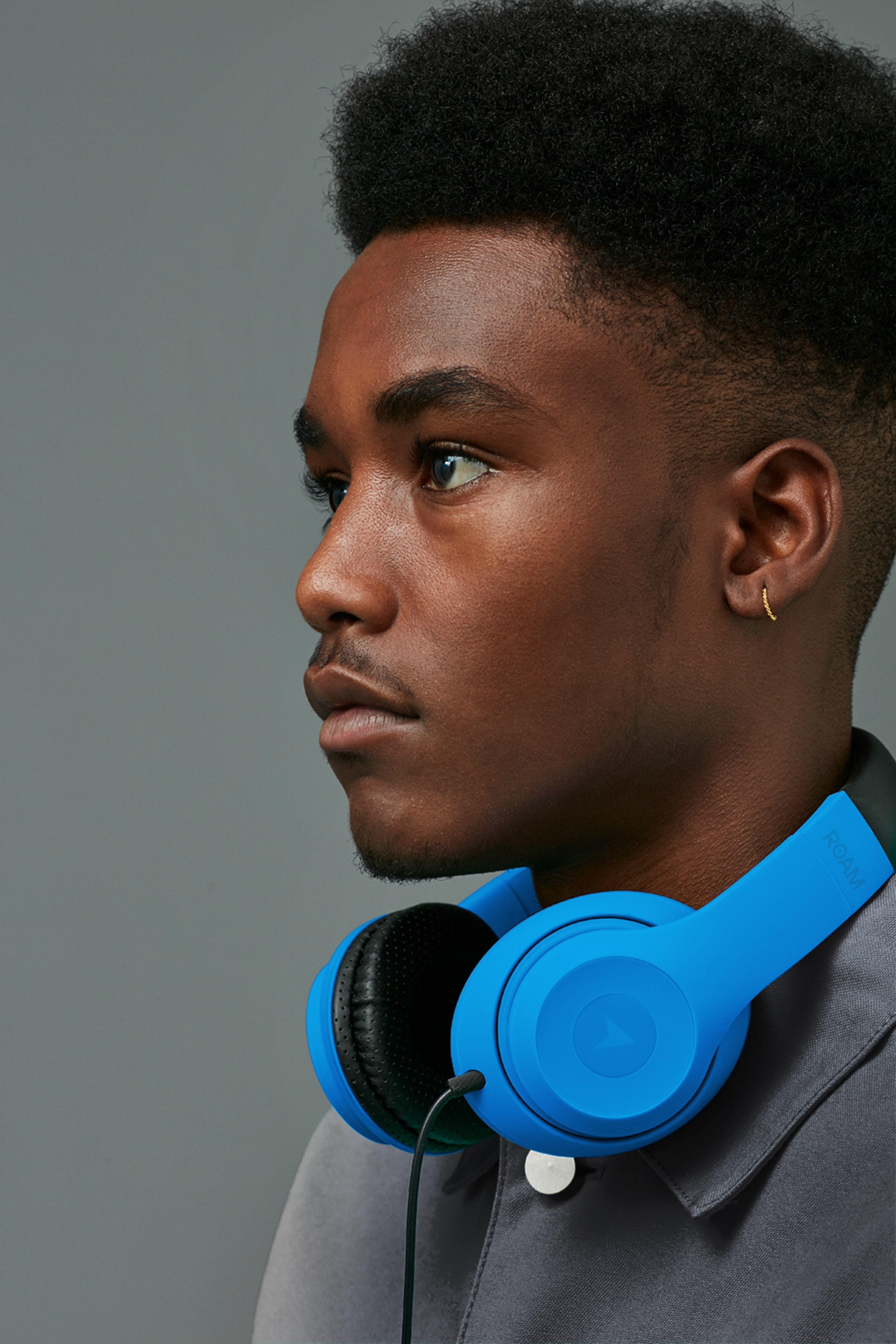 Roam Colours Plus Blue Headphones W/Mic - 3