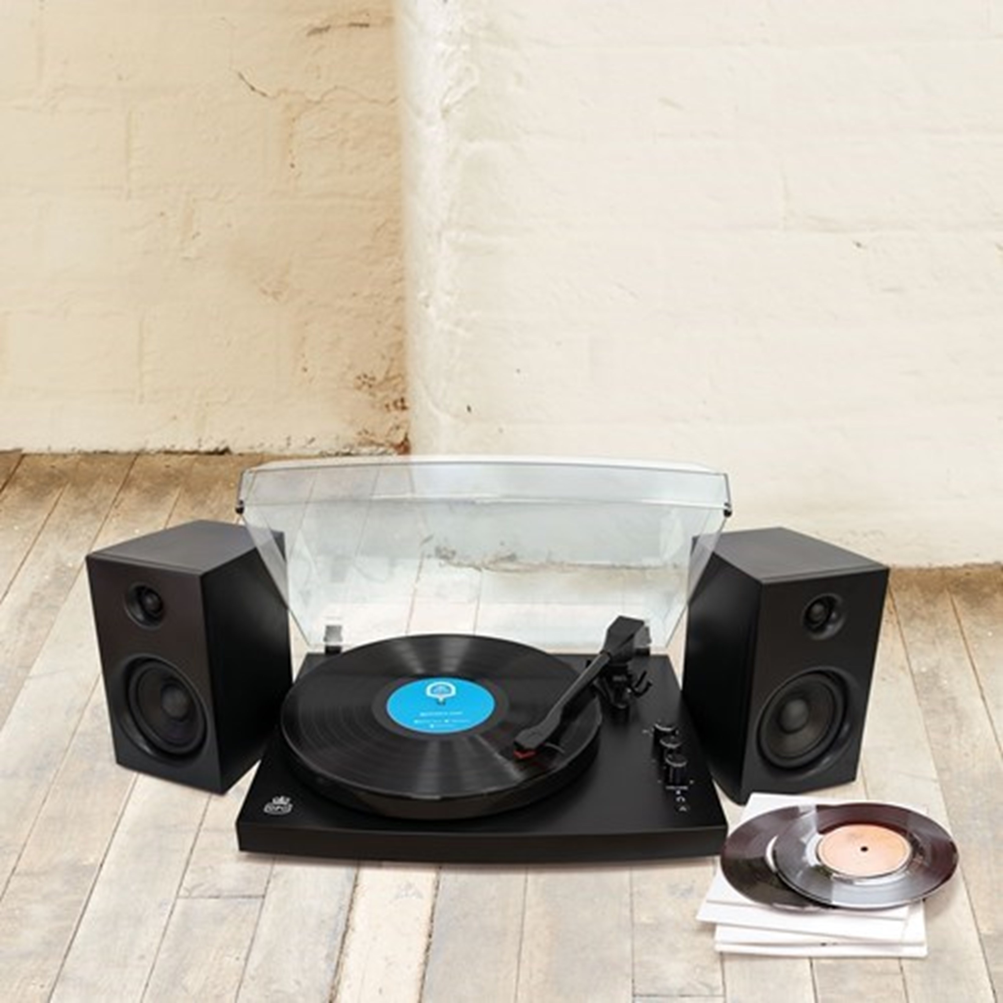 GPO Piccadilly Matte Black Turntable With Speakers (hmv Exclusive) - 4