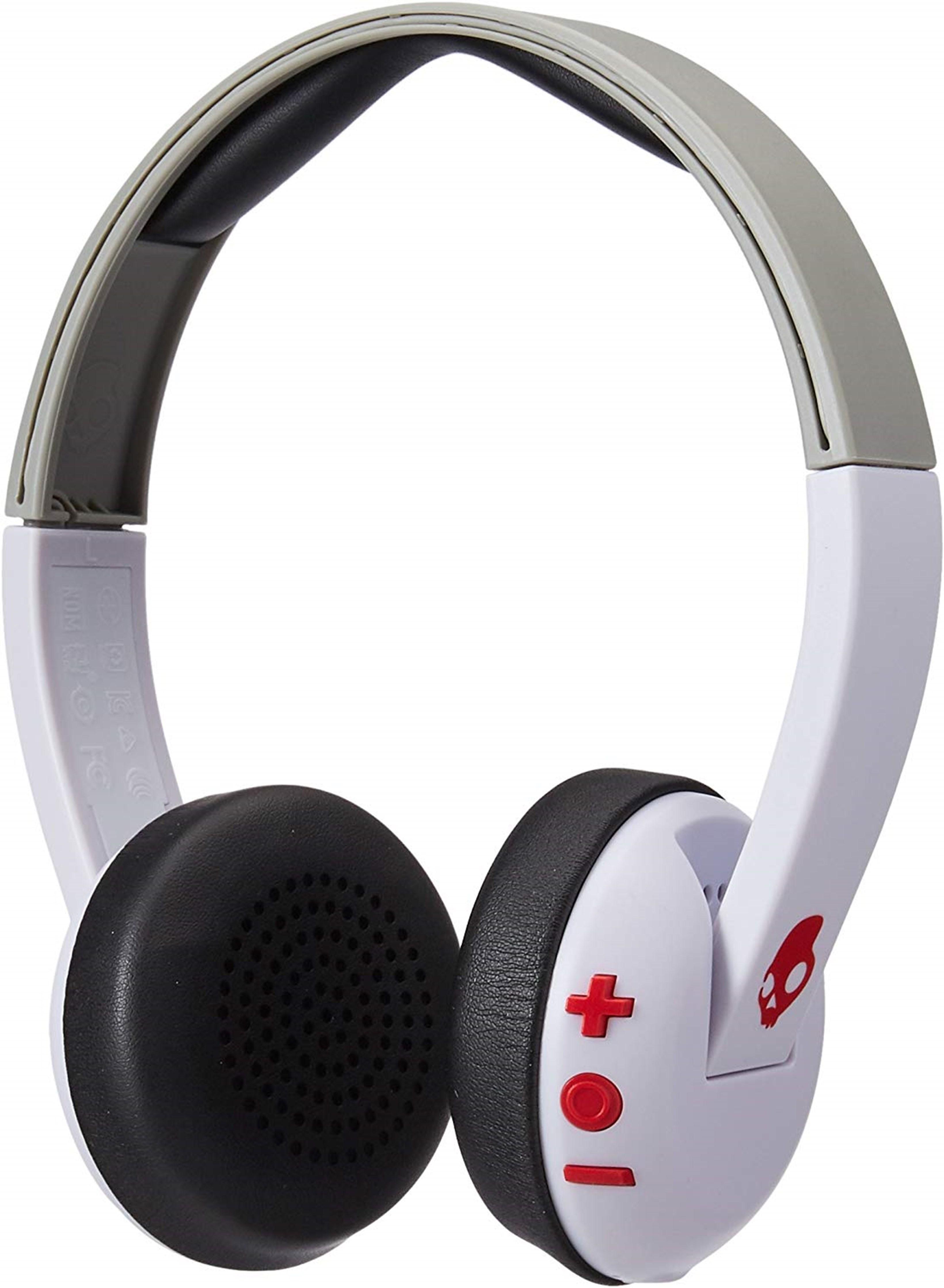 Skullcandy Uproar White/Grey/Red Bluetooth Headphones - 1