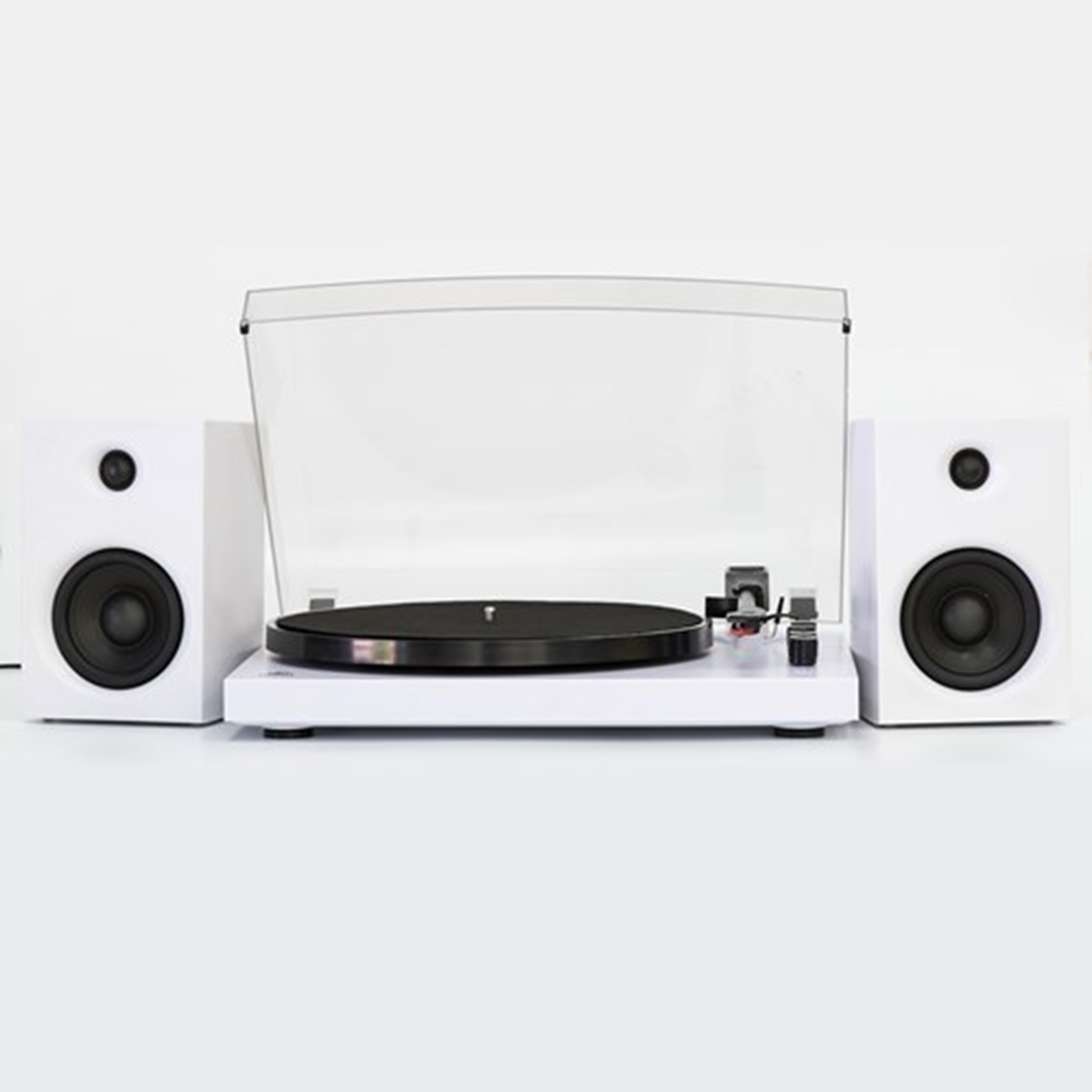 GPO Piccadilly Matte White Turntable With Speakers (hmv Exclusive) - 3