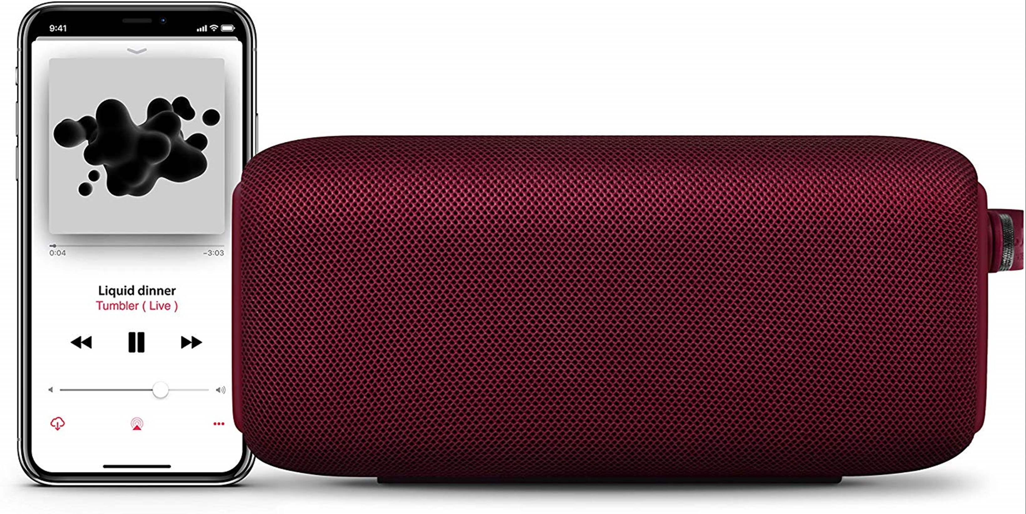 Fresh n Rebel Bold M Ruby Red Bluetooth Speaker - 2