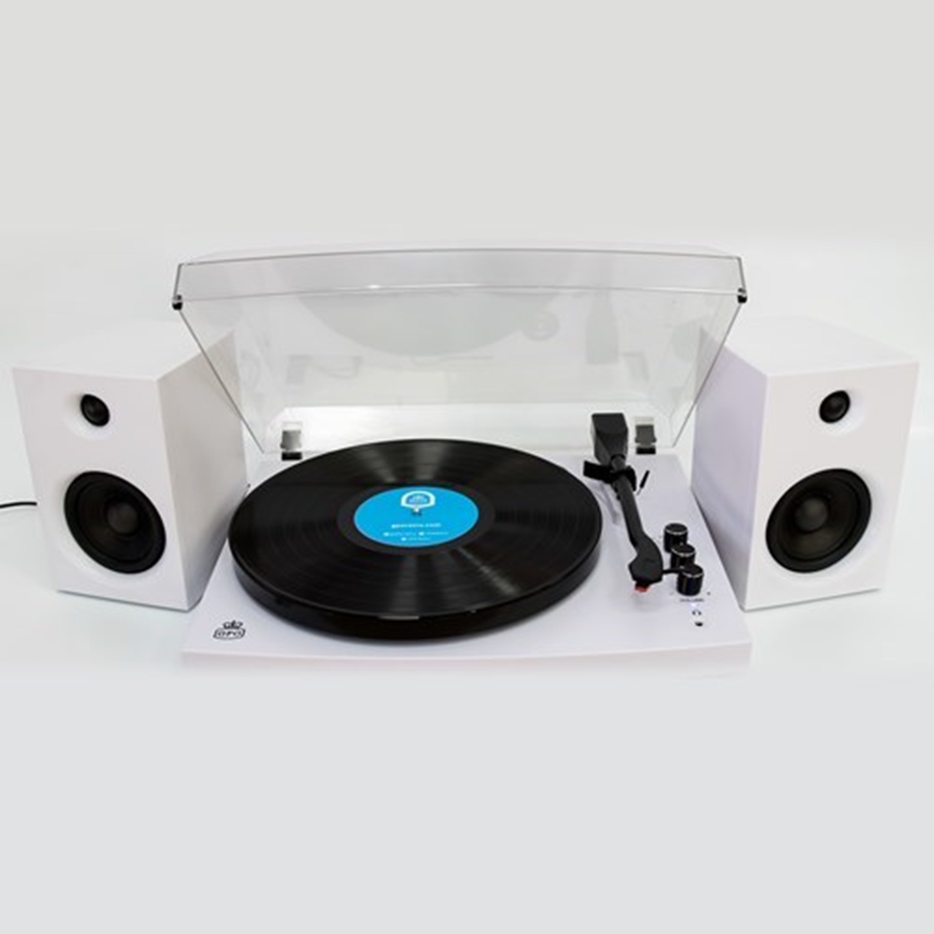 GPO Piccadilly Matte White Turntable With Speakers (hmv Exclusive) - 2