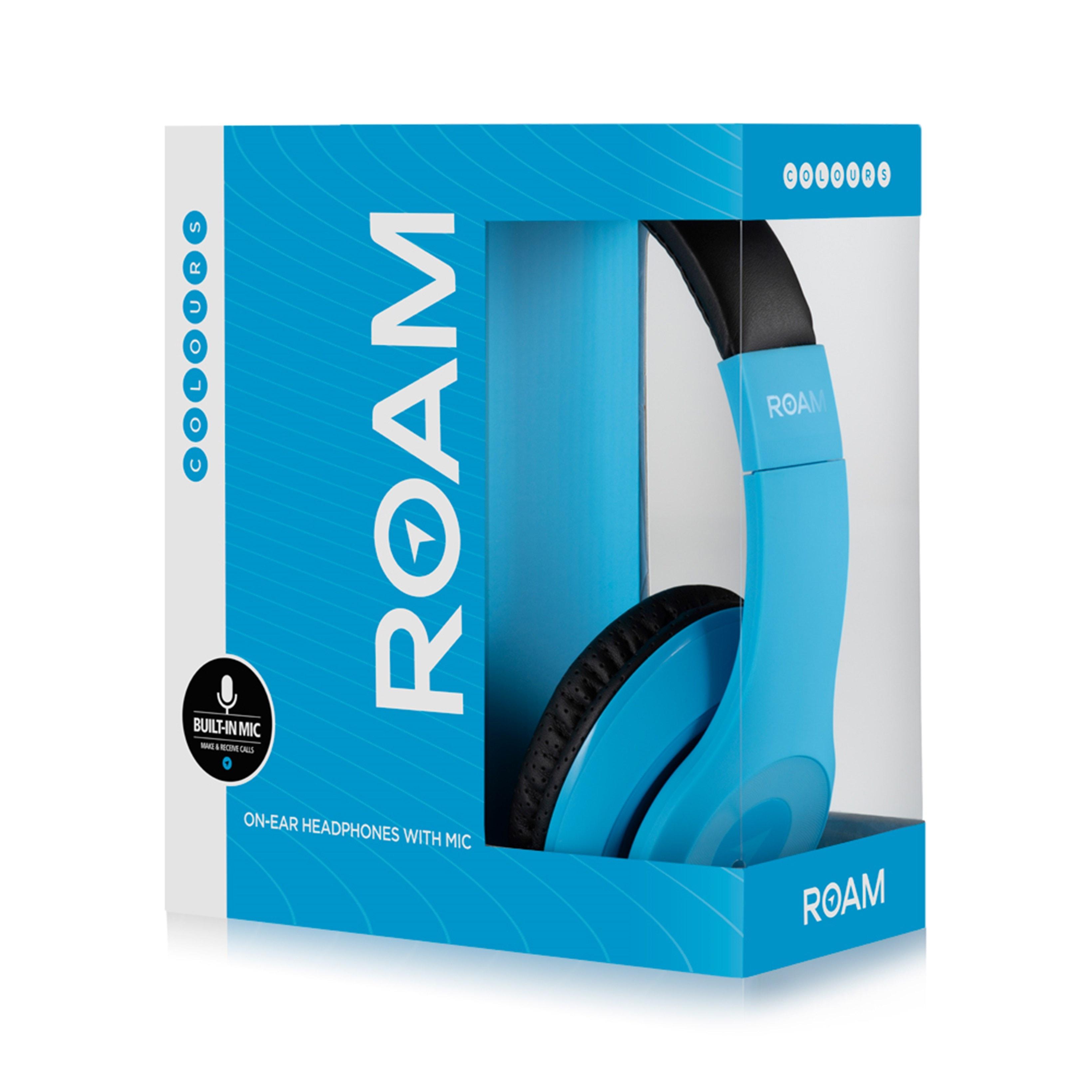 Roam Colours Plus Blue Headphones W/Mic - 2