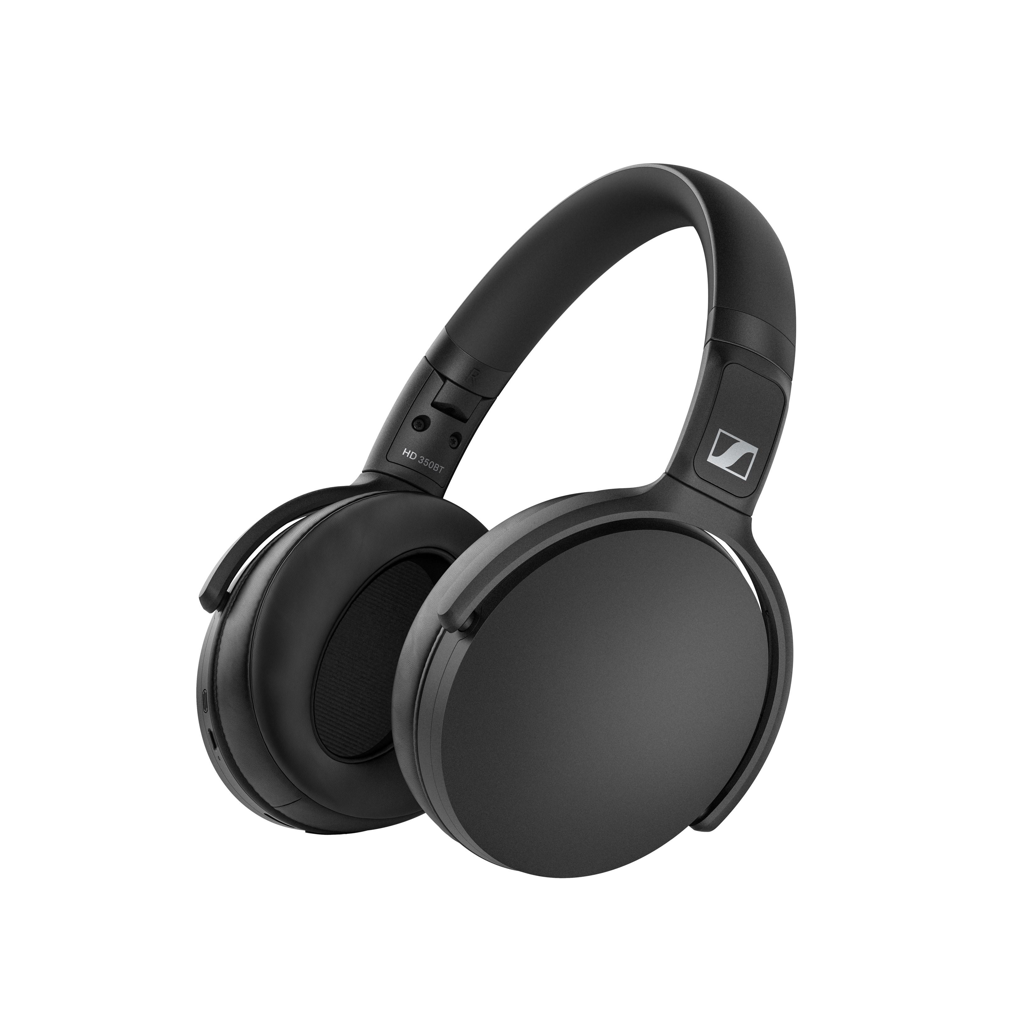 Sennheiser HD 350BT Black Bluetooth Headphones - 1