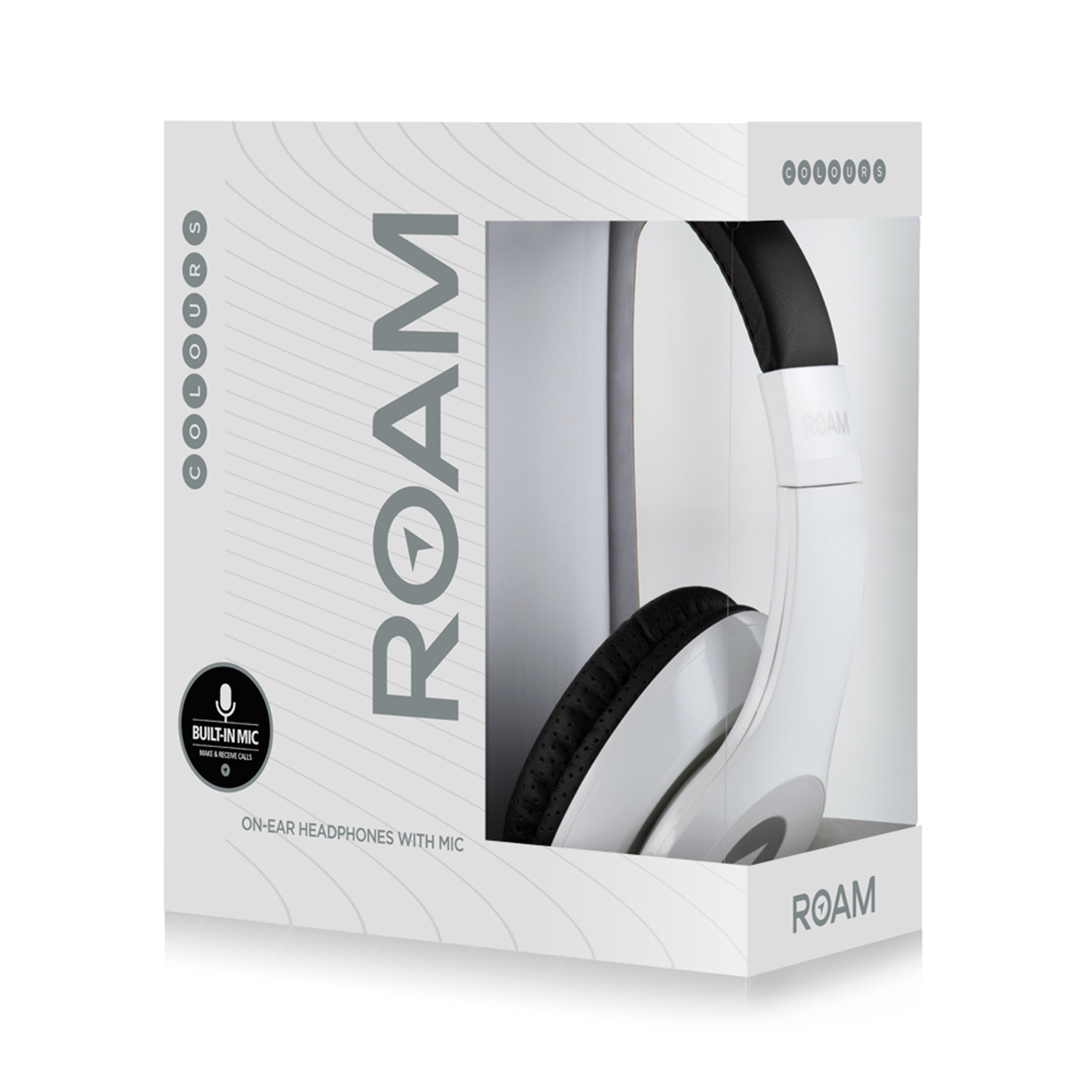 Roam Colours Plus White Headphones W/Mic - 2