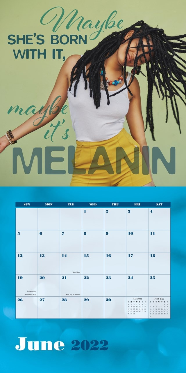 Black Girl Magic Square 2022 Calendar - 2