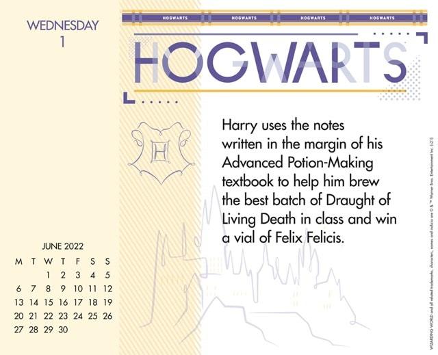 Harry Potter Desk Block 2022 Calendar - 3