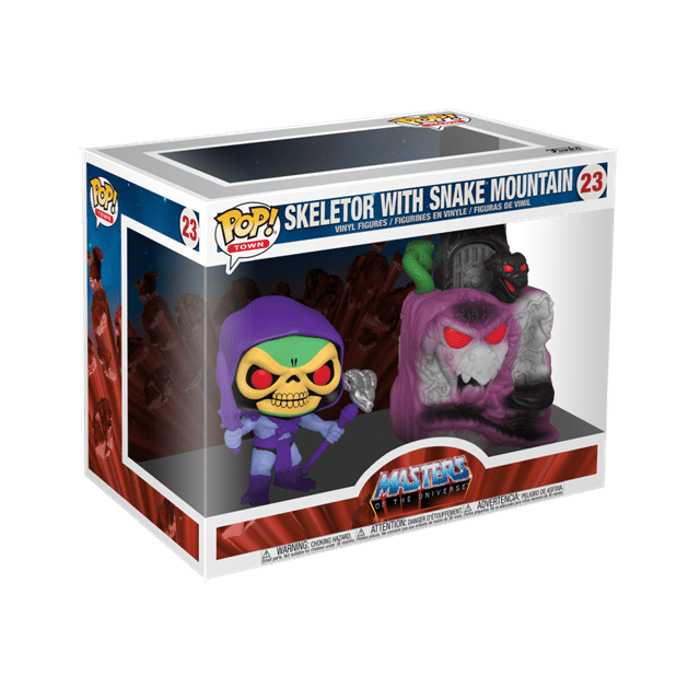 Snake Mountain With Skeletor (23): Masters Of The Universe Pop Vinyl: Town - 2